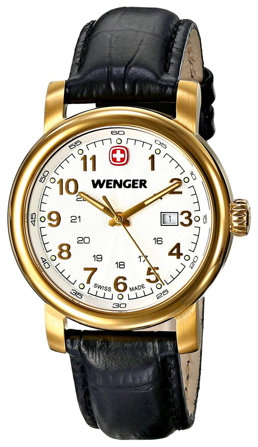 Wenger Urban Classic Damklocka 01.1021.109 Vit/Läder Ø34 mm - Wenger