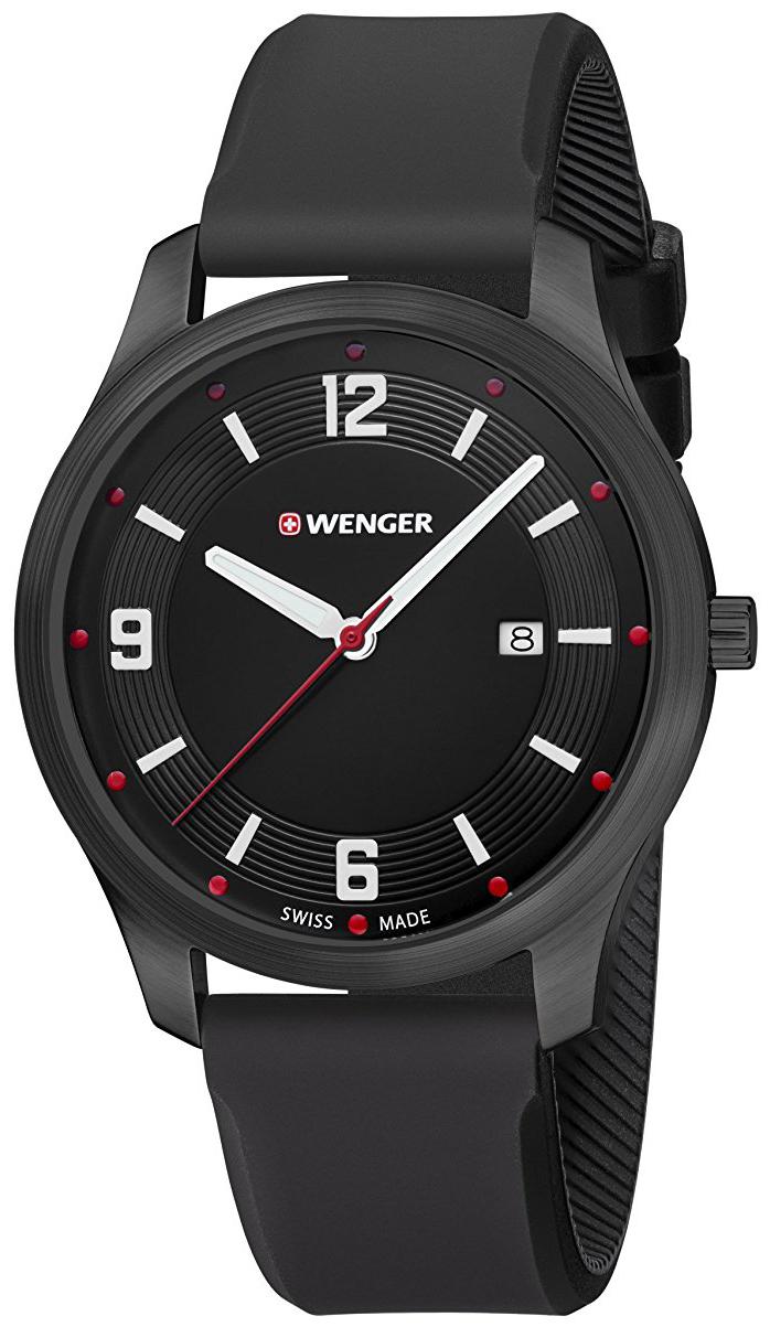 Wenger 99999 Herrklocka 01.1441.111 Svart/Gummi Ø43 mm - Wenger