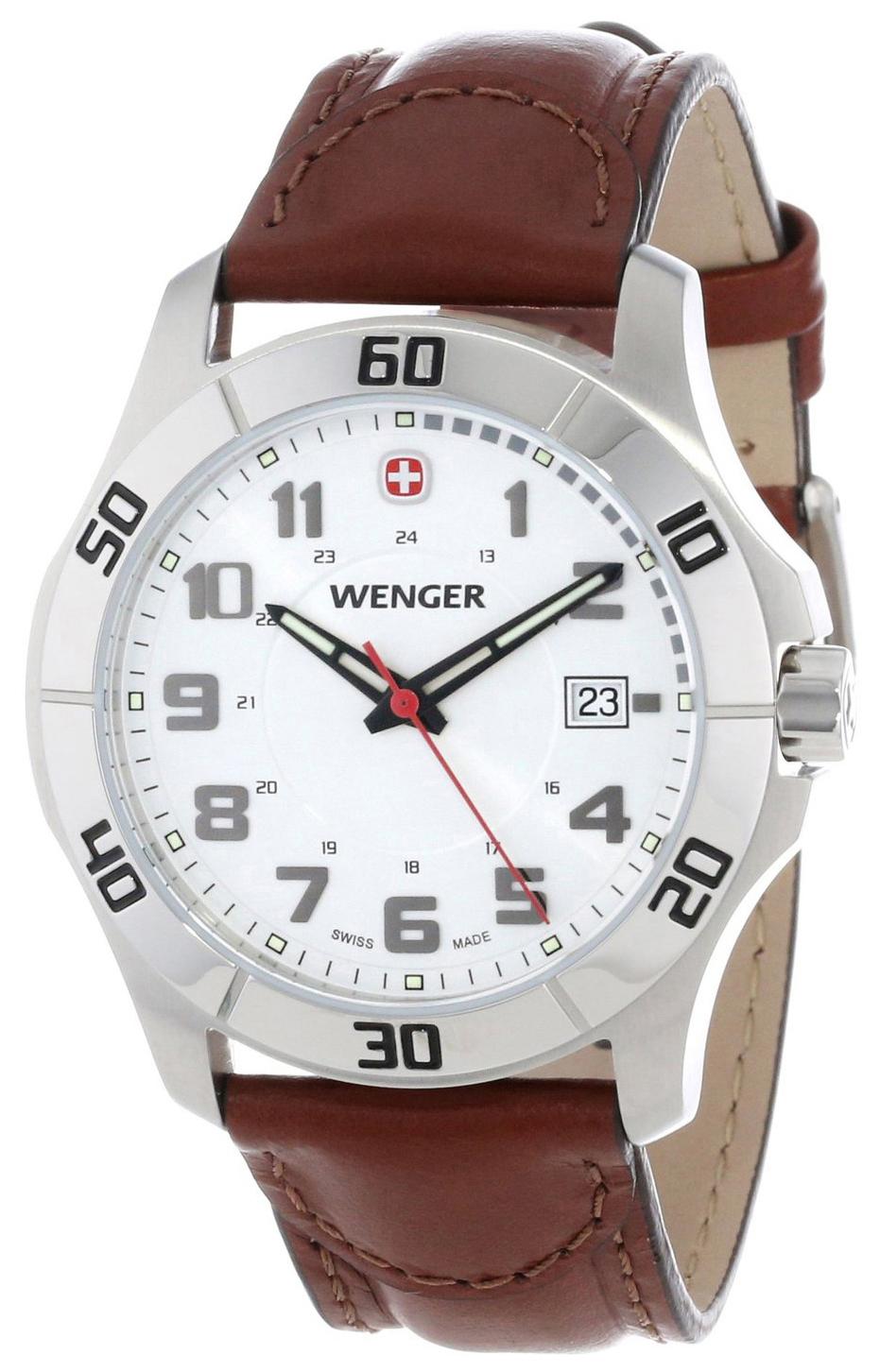 Wenger 99999 Herrklocka 70480 Vit/Läder Ø42 mm - Wenger