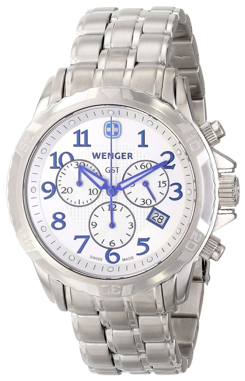 Wenger 99999 Herrklocka 78259 Silverfärgad/Stål Ø43 mm - Wenger