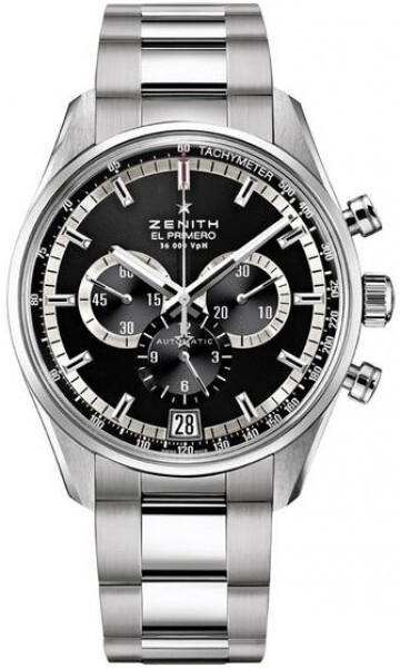 Zenith El Primero Herrklocka 03.2040.400-21.M2040 Svart/Stål Ø42 mm - Zenith