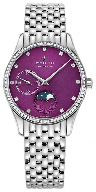 Zenith Elite Ultra Thin Damklocka 16.2310.692-92.M2310 Lila/Stål Ø33 mm - Zenith