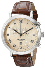 Akribos XXIV Chronograph Gulguldstonad/Läder