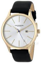 Akribos XXIV Essential Silverfärgad/Läder
