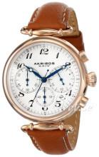 Akribos XXIV Chronograph Vit/Läder
