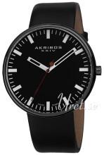 Akribos XXIV Essential Svart/Läder Ø43 mm
