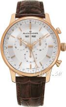 Alexander Statesman Silverfärgad/Läder