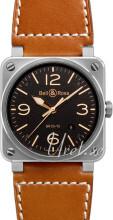 Bell & Ross BR 03-92 Svart/Läder Ø42 mm