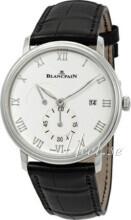 Blancpain Villeret Vit/Läder