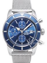 Breitling Superocean Heritage 46 Chronograph Blue Dial Bracelet