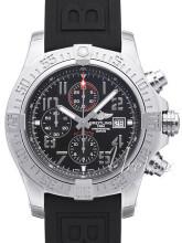 Breitling Super Avenger II Chronograph Svart/Gummi