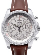 Breitling for Bentley 6.75 Silverfärgad/Läder