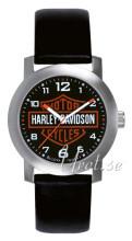 Bulova Harley-Davidson Svart/Läder