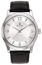Bulova Dress Silverfärgad/Läder