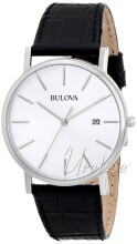 Bulova Dress Silverfärgad/Läder Ø37 mm