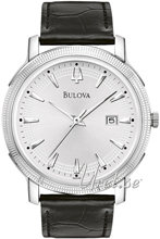 Bulova Dress Silverfärgad/Läder Ø40 mm