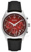 Bulova Accutron Röd/Läder