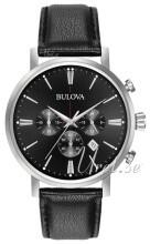 Bulova Svart/Läder