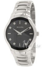 Bulova Diamond Svart/Stål Ø39 mm
