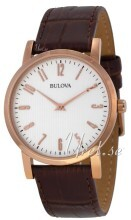 Bulova Dress Vit/Läder Ø38 mm