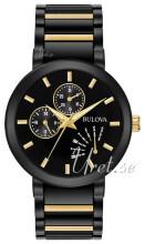 Bulova Bracelet Svart/Gulguldtonat stål
