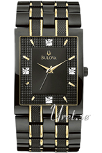 Bulova Diamonds Two Tone Black Dial