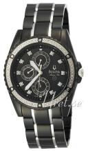 Bulova Marine Star Diamond Chronograph Black Dial