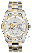 Bulova Diamond Silverfärgad/Gulguldtonat stål