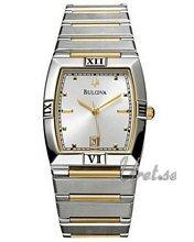 Bulova Bracelet Two Tone Silver Dial