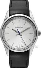 Calvin Klein Bold Silverfärgad/Läder Ø41 mm