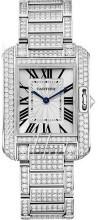 Cartier Tank Anglaise Silverfärgad/18 karat vitt guld