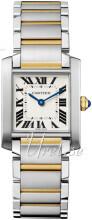 Cartier Tank Francaise Silverfärgad/18 karat gult guld