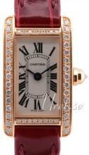 Cartier Tank Americaine Silverfärgad/Läder