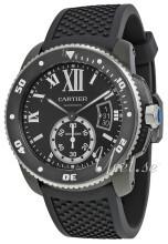 Cartier Calibre De Cartier Svart/Gummi