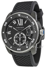 Cartier Calibre De Cartier Svart/Gummi Ø42 mm