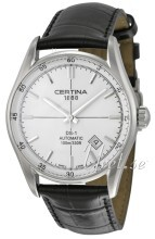 Certina DS 1 Automatic Silverfärgad/Läder Ø39 mm