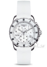 Certina DS First Lady Ceramic Chrono Vit/Gummi Ø35 mm