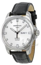 Certina DS First Gent Silverfärgad/Läder Ø40.3 mm