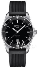 Certina DS First Svart/Gummi