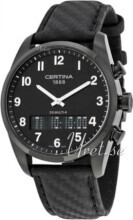 Certina DS Multi-8 Svart/Läder Ø42 mm