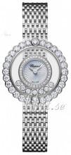 Chopard Happy Diamonds Icons Vit/18 karat vitt guld Ø30.3 mm