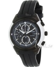 Citizen Sport Chrono Svart/Gummi