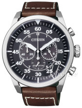 Citizen Svart/Läder