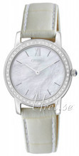 Citizen Elegance Ladies Vit/Läder