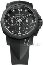Corum Admirals Cup Challaenger 44 Svart/Gummi