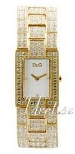 Dolce & Gabbana D&G Chamonix Vit/Gulguldtonat stål 28x23 mm