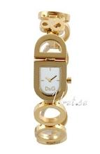 Dolce & Gabbana D&G Vit/Gulguldtonat stål 22x20 mm