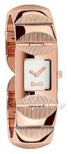 Dolce & Gabbana D&G Silverfärgad/Roséguldstonat stål 22x22 mm