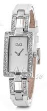 Dolce & Gabbana D&G Chamonix Silverfärgad/Läder 31x20 mm