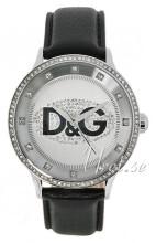 Dolce & Gabbana D&G Prime Time Silverfärgad/Läder